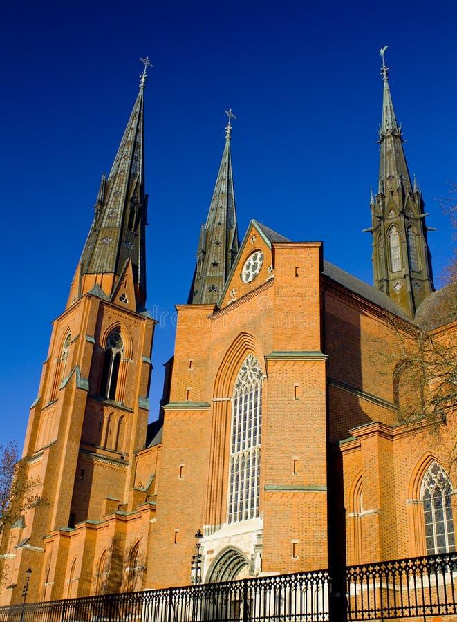 красивейший собор Швеция uppsala стоковые изображения