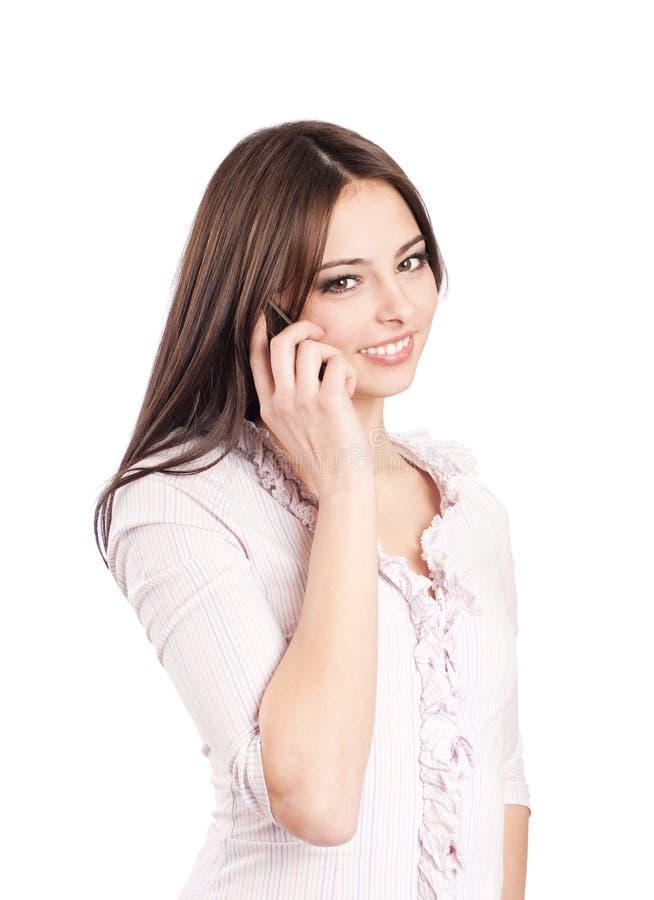 красивейший телефон девушки стоковые фото