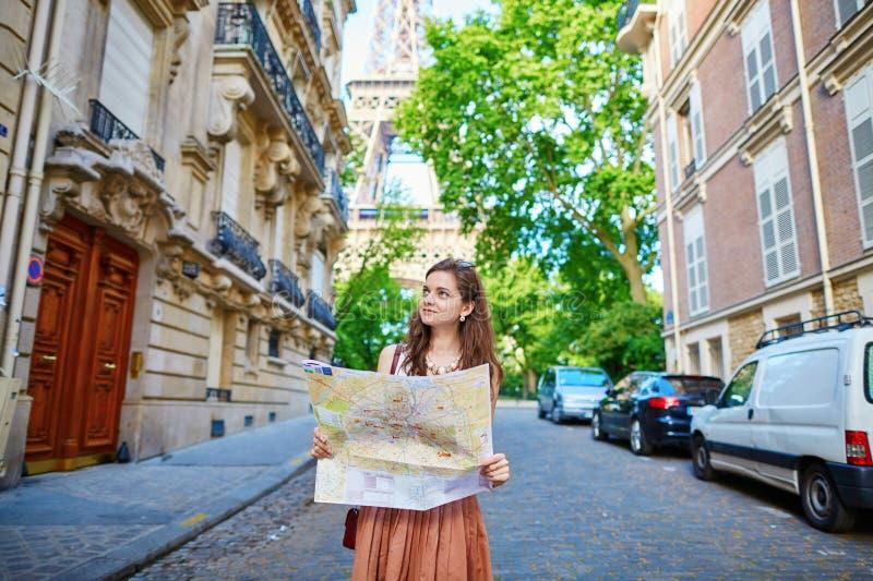 красивейший турист paris стоковое фото rf