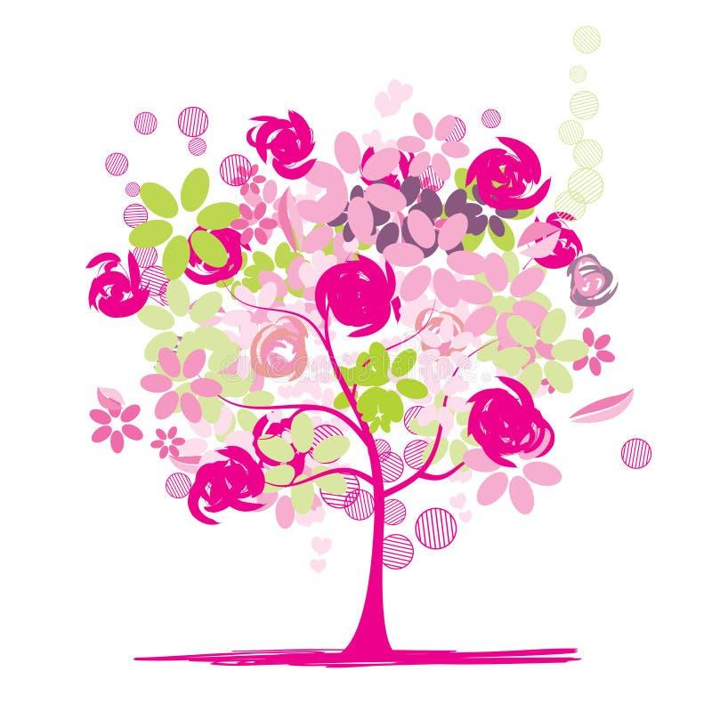 красивейший флористический вал бесплатная иллюстрация
