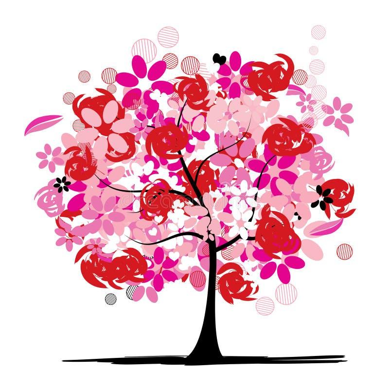красивейший флористический вал иллюстрация штока