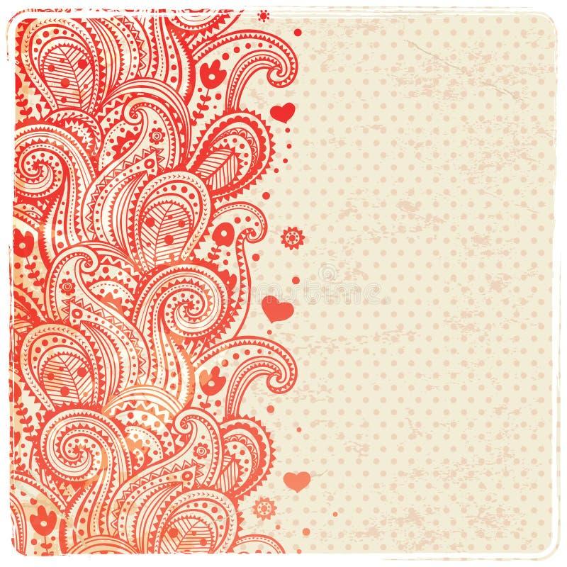 Красивейший флористический орнамент иллюстрация штока