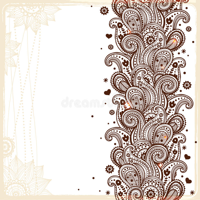Красивейший флористический орнамент иллюстрация вектора