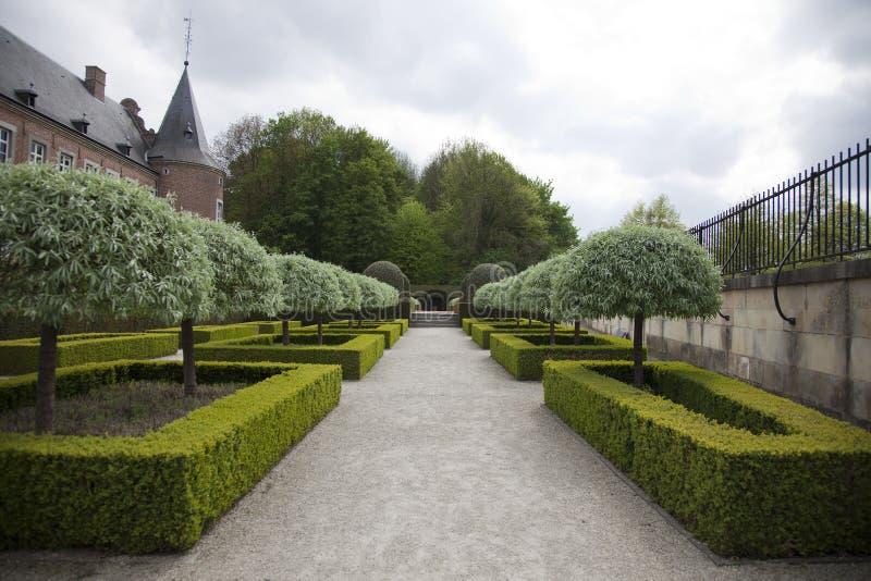 Красивейший французский сад стоковые фото