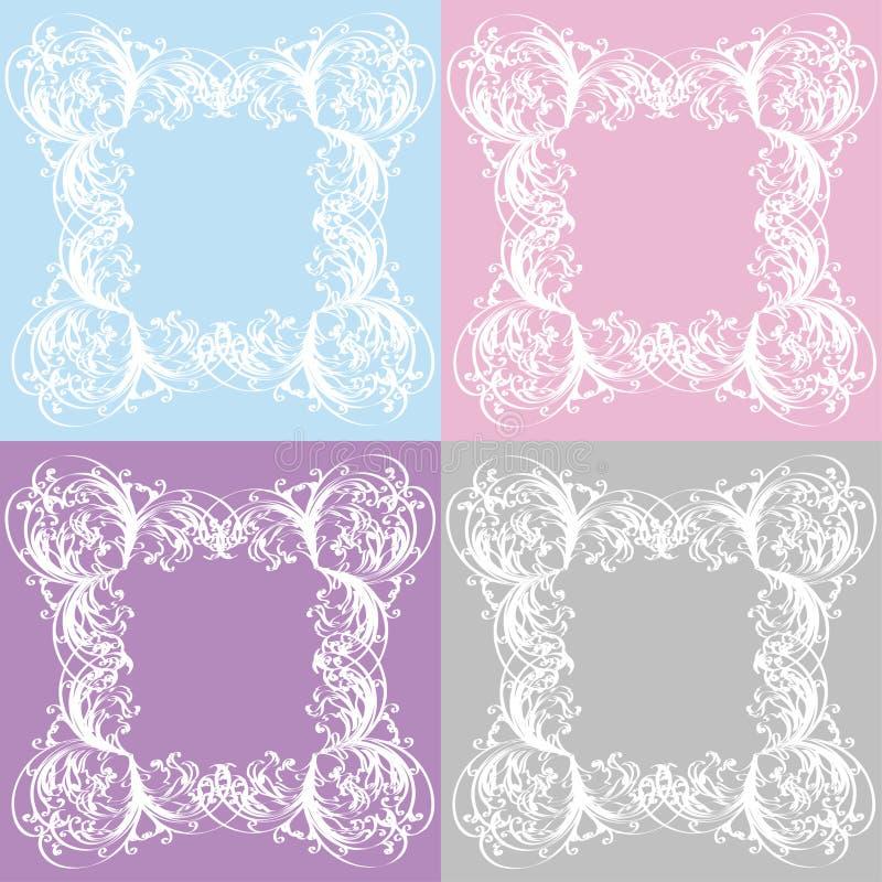 красивейший флористический вектор иллюстрации рамок стоковое фото rf