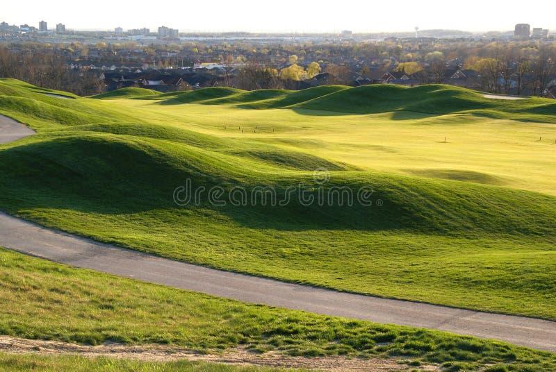 Красивейший холм гольфа стоковое фото rf