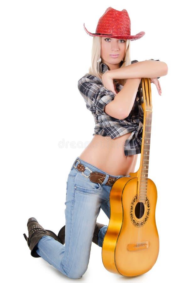 красивейший шлем s девушки ковбоя стоковая фотография rf