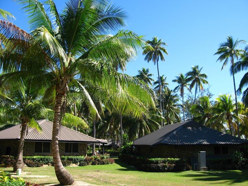 красивейший экзотический курорт Фиджи стоковое изображение rf