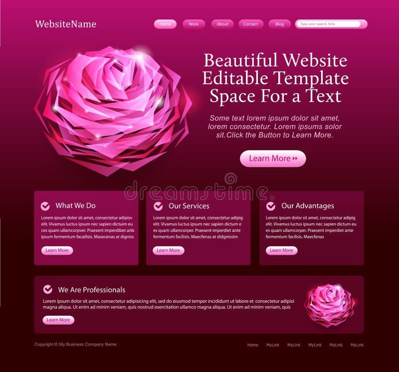 красивейший editable вебсайт шаблона иллюстрация вектора