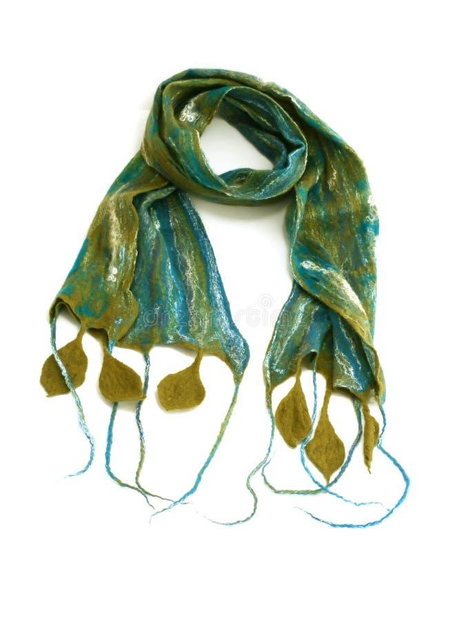 красивейший handwork изолировал белизну шарфа стоковое изображение