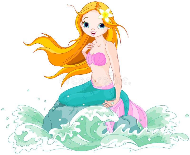 красивейший mermaid иллюстрация штока
