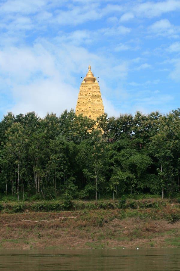 красивейший pagoda орнамента ландшафта золота стоковое изображение rf