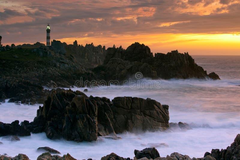 красивейший seascape сумрака стоковое изображение