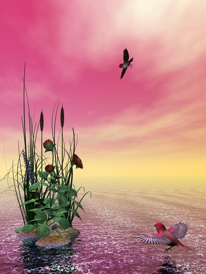 красивейший seascape иллюстрация штока