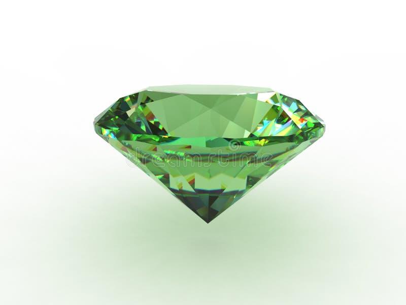 красивейший topaz зеленого цвета gemstone иллюстрация штока