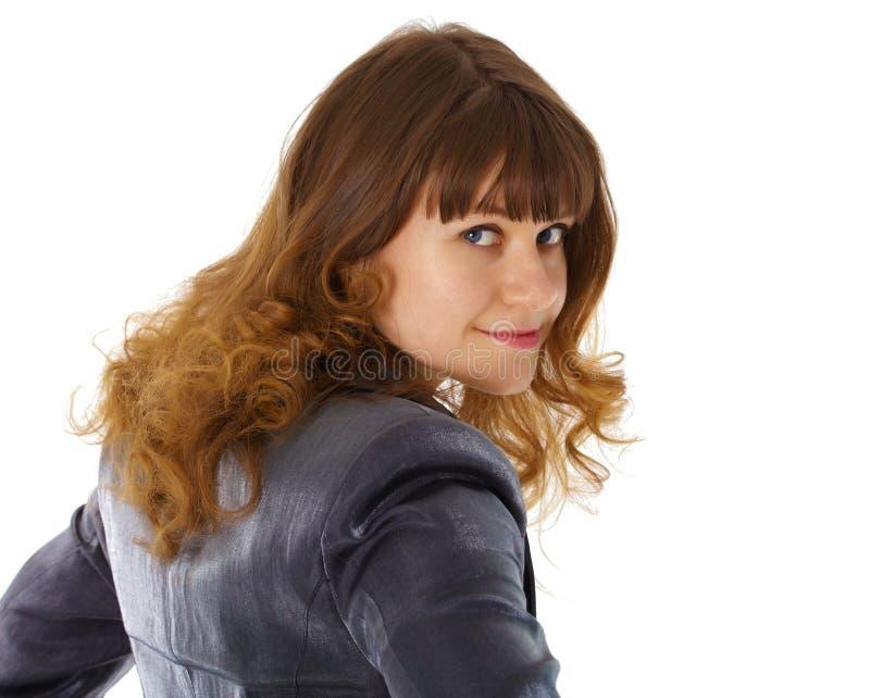 красивейшим излишек женщина повернутая плечом молодая стоковые изображения rf