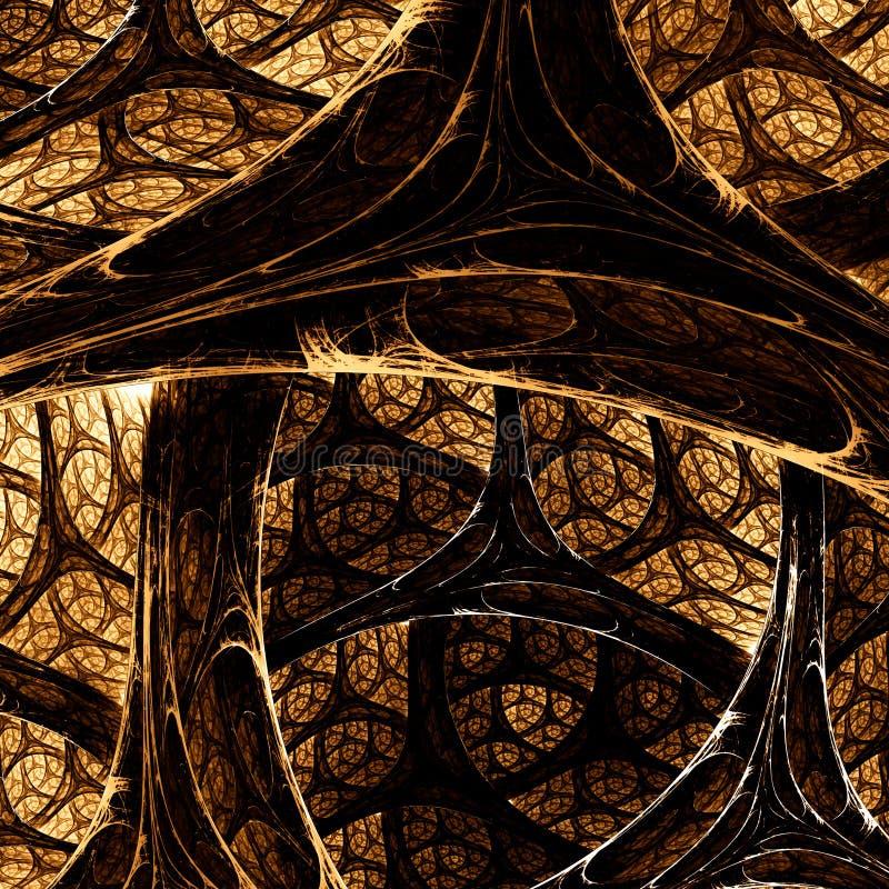 Красивое абстрактное изображение компьютер детализирует произведенную фракталью текстуру картины mirco стоковая фотография rf