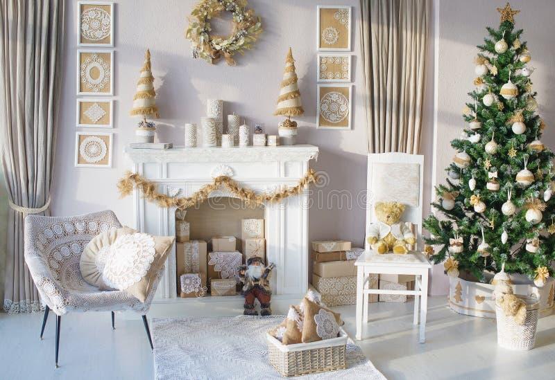 Красивое внутреннее художественное оформление рождества стоковая фотография rf