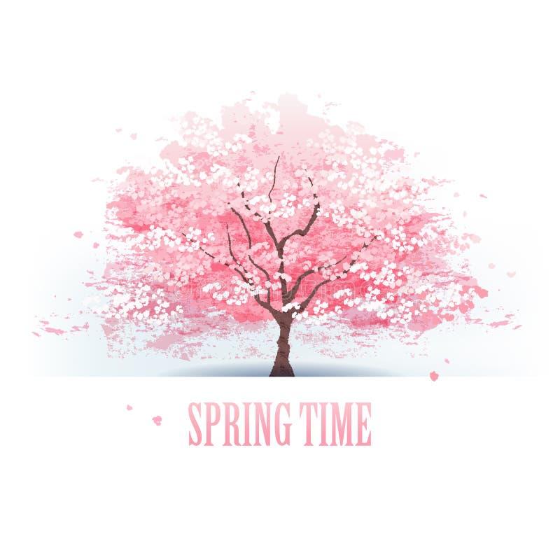 Красивое дерево вишневого цвета бесплатная иллюстрация