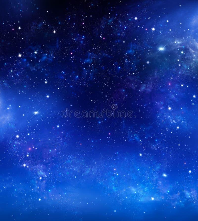 Красивое звездное небо, галактическая туманность, предпосылка космоса стоковая фотография