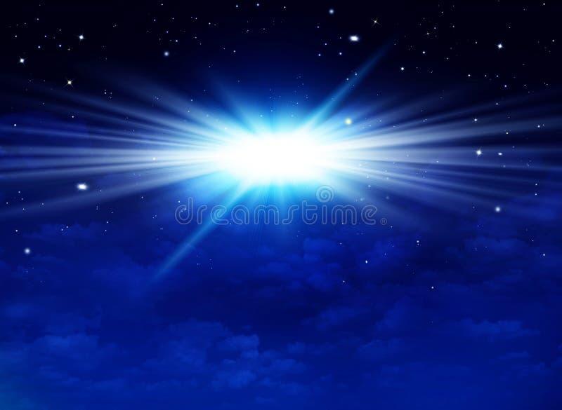 Красивое звездное небо, галактическая туманность, предпосылка космоса стоковое фото rf