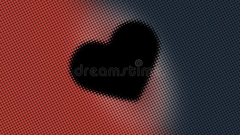 Красивое знамя обоев с, абстрактный дизайн, геометрические картины, небольшие точки, сердце, готовая текстура текста, оранжевых и стоковая фотография rf