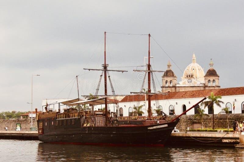 Красивое изображение гавани Cartagena стоковые изображения rf