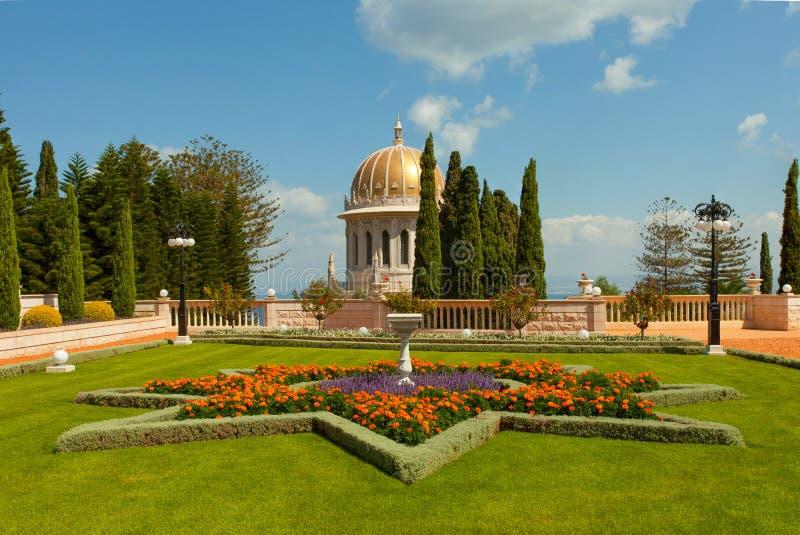 Красивое изображение садов Bahai в Хайфе Израиле стоковое изображение
