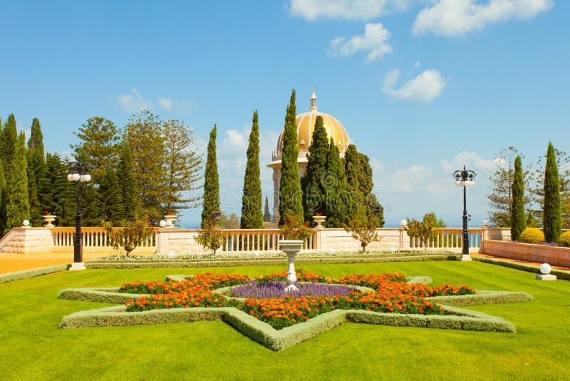 Красивое изображение садов Bahai в Хайфе Израиле стоковые изображения