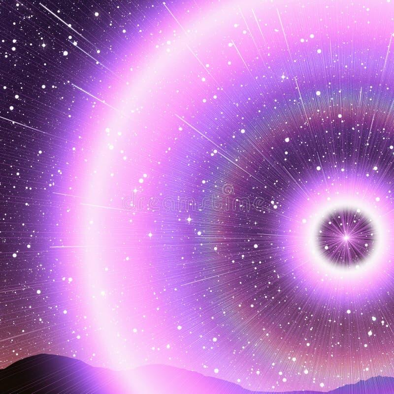 Красивое изображение следа звезды во время на ночи иллюстрация вектора