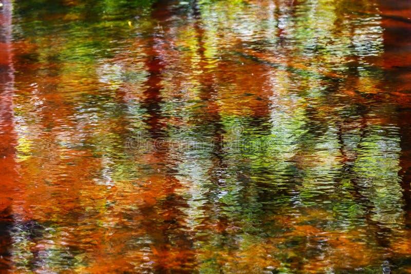 Красивое красочное абстрактное отражение воды стоковая фотография