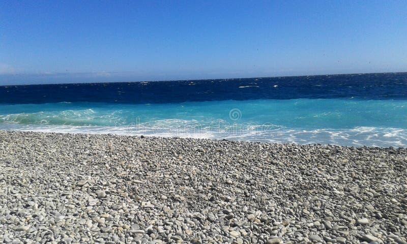 Красивое красочное море стоковое фото rf