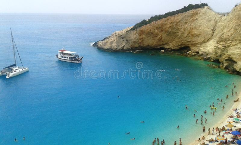 Красивое красочное море стоковая фотография