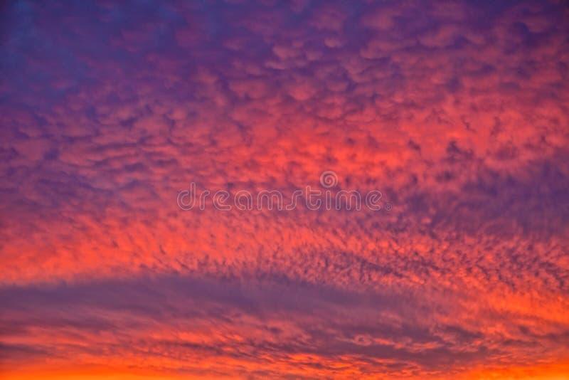 Красивое небо вечера, Вустершир, Англия стоковые фотографии rf