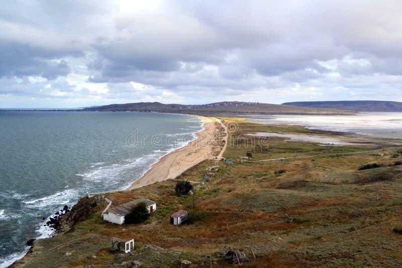 Красивое побережье моря Азова стоковое изображение