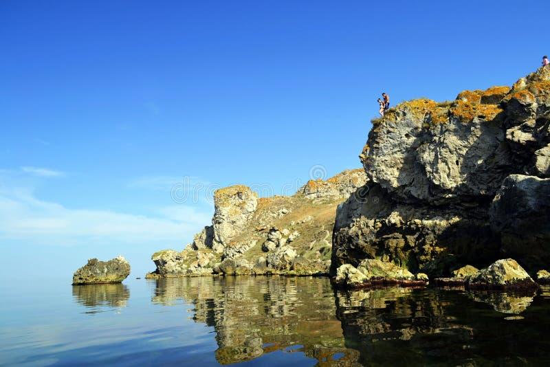 Красивое побережье моря Азова стоковое фото