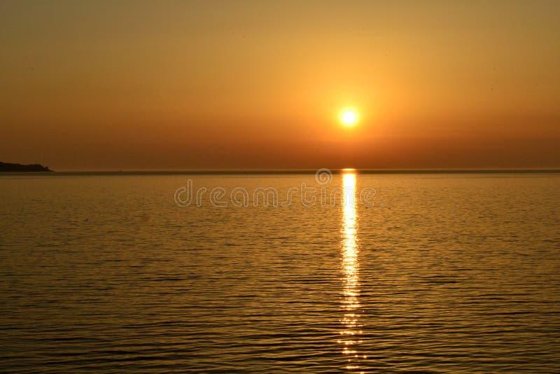 Красивое побережье моря Азова стоковые изображения rf