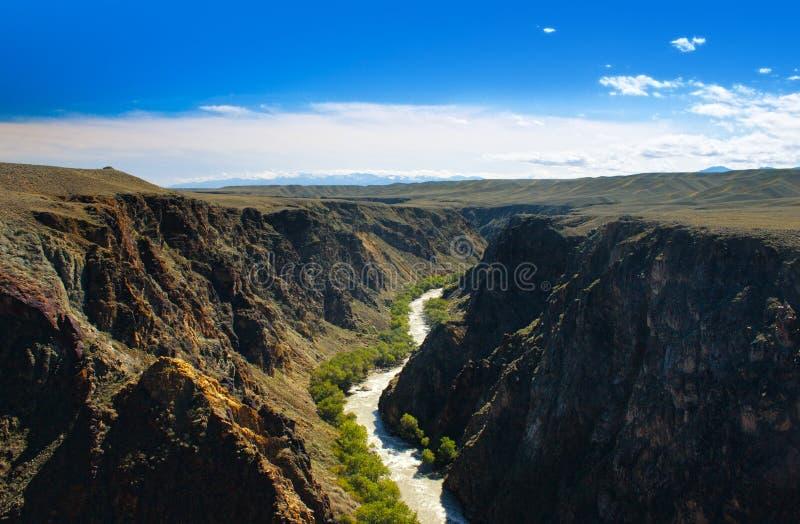 Красивое река в каньоне Charyn стоковое изображение
