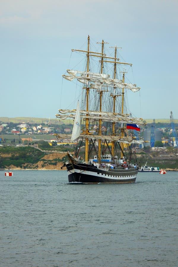 Красивое старое парусное судно стоковые изображения