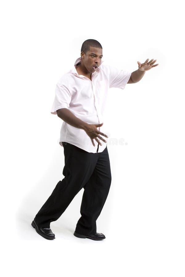 Красивое танцы чернокожего человек стоковые изображения rf