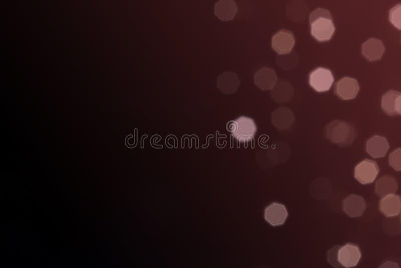 Красивое defocused СИД освещает фильтрованный конспект bokeh с тоном marsala или красной предпосылкой тона лозы стоковое фото