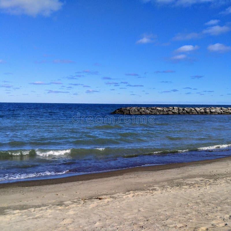 Красивое Lake Erie стоковое изображение rf