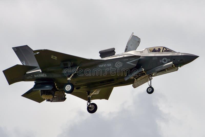 Красивое loseup F-35 стоковые фотографии rf