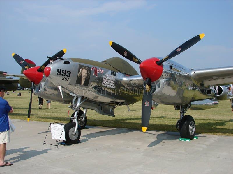 Красиво восстановленное редкое разбалластование Lockheed P-38 стоковая фотография rf