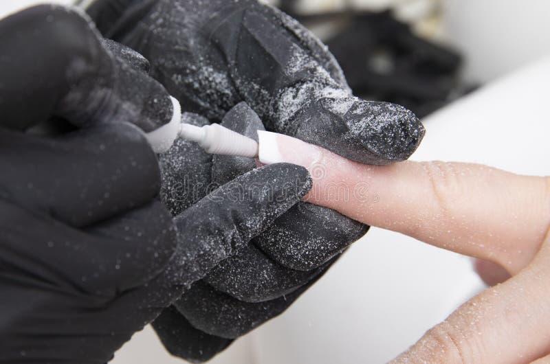 Красиво деланные маникюр ногти стоковые изображения rf