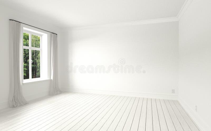Красивые белизна и светлая комната стоковые изображения