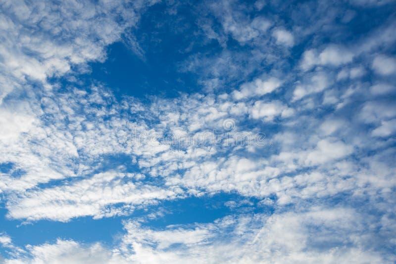 Красивые белые облака с голубым небом стоковое изображение