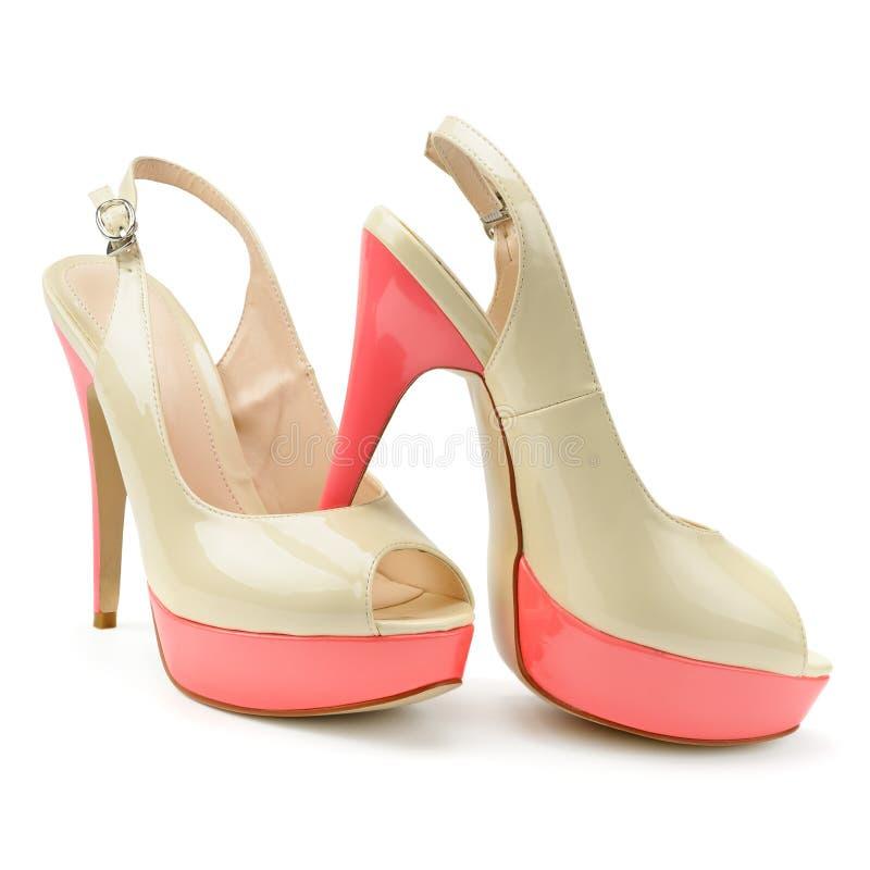 Красивые ботинки женщины стоковые изображения rf