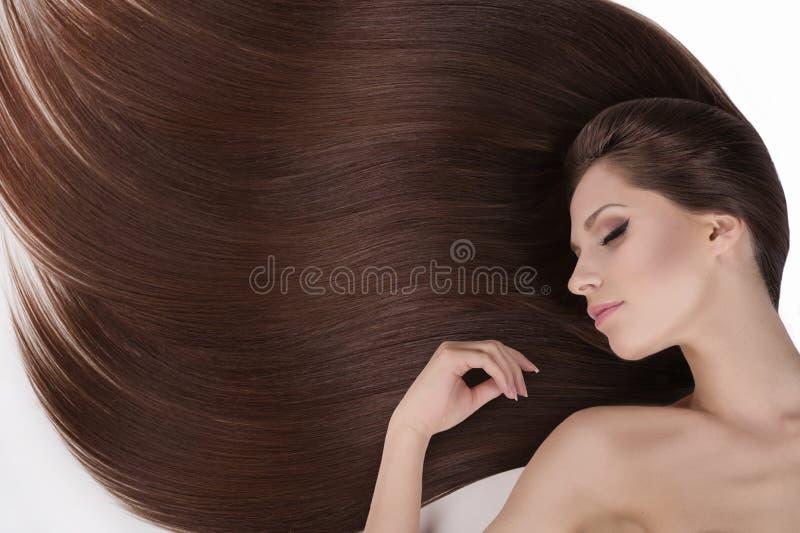 Красивые волосы. T стоковое изображение rf