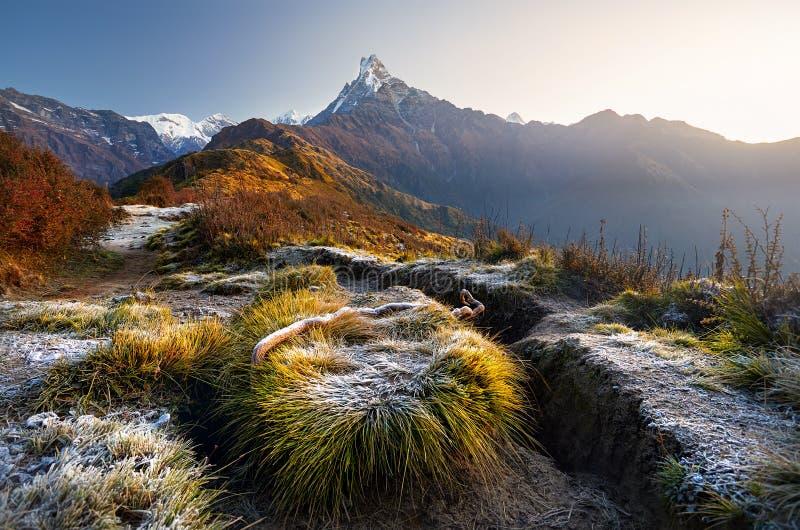 Download Красивые гималайские горы стоковое фото. изображение насчитывающей холм - 104036902